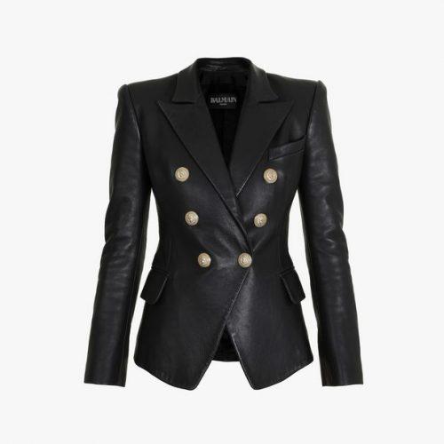 BALMAIN leather